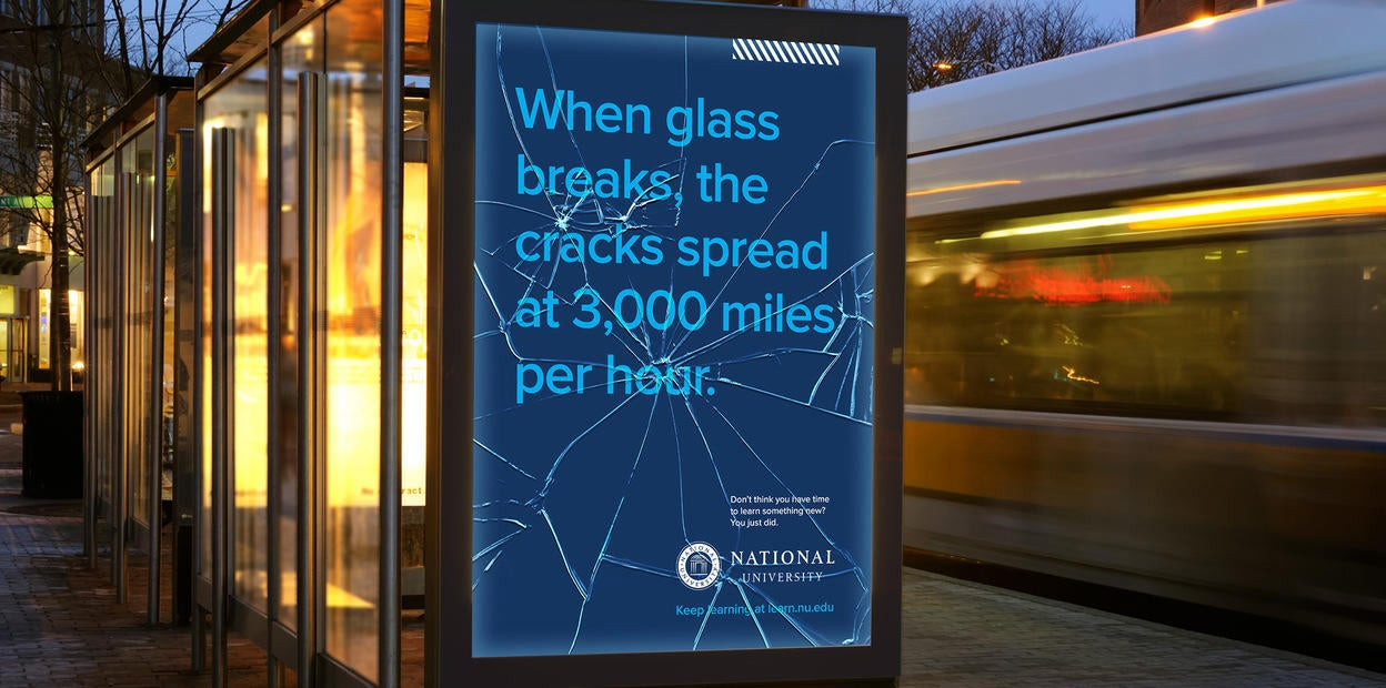 When glass breaks, the cracks spread at 3,000 miles per hour.