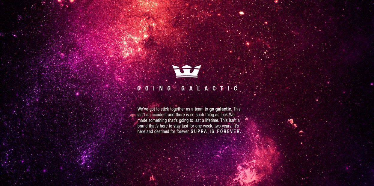SUPRA Microsite — Going Galactic.